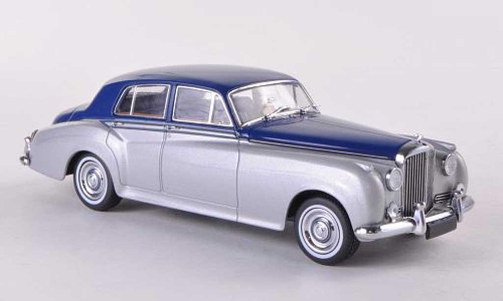 Bentley Continental S2 1/43 Minichamps Standard Saloon grisegrise/bleue RHD 1960 miniature