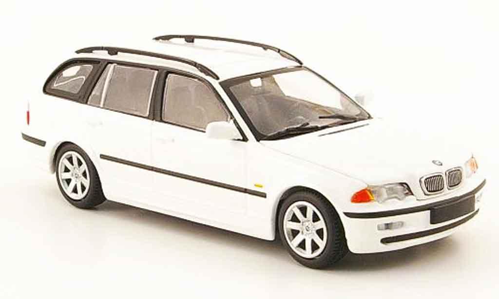 Bmw 323 1/43 Minichamps Touring (E46) blanche 1999 miniature