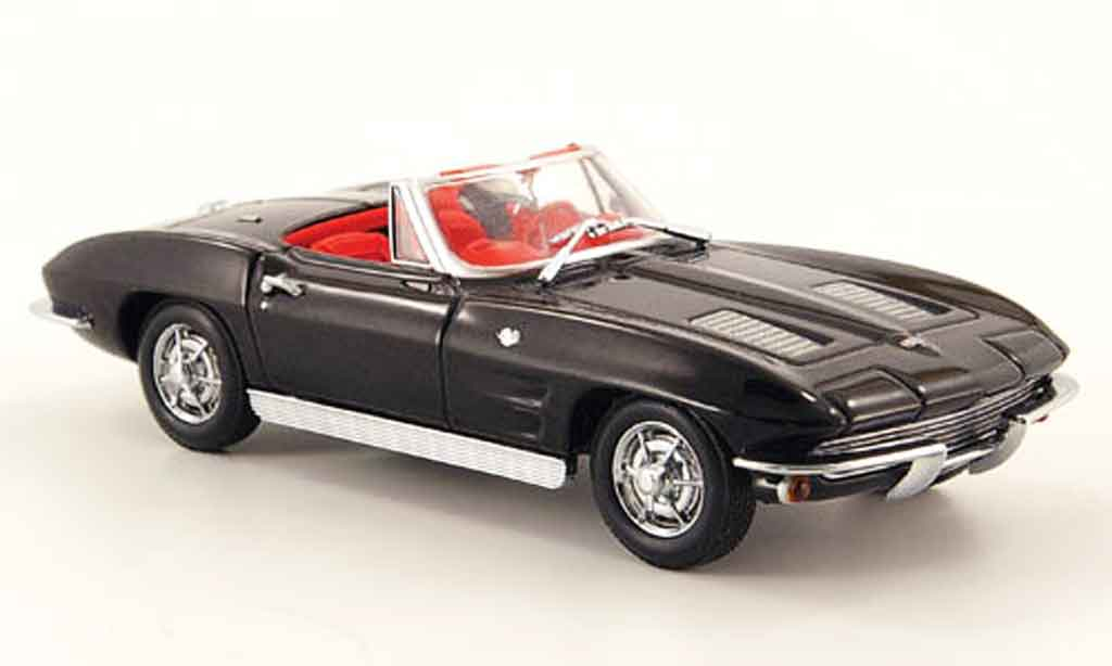 Chevrolet Corvette C2 1/43 Minichamps convertible/cabriolet noire 1963 miniature