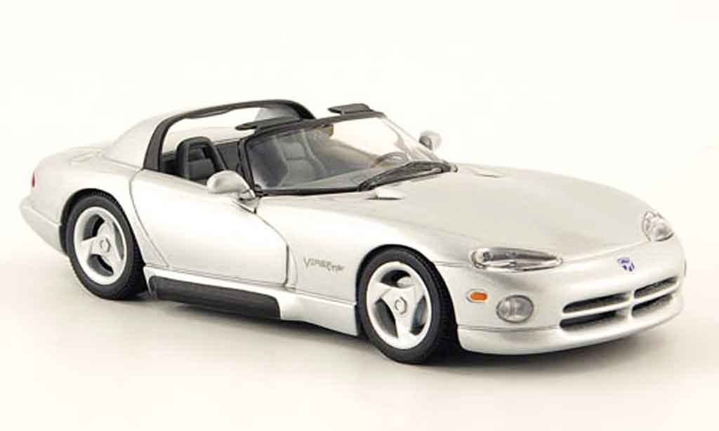 Dodge Viper RT 10 1/43 Minichamps gray metallisee 1993 diecast
