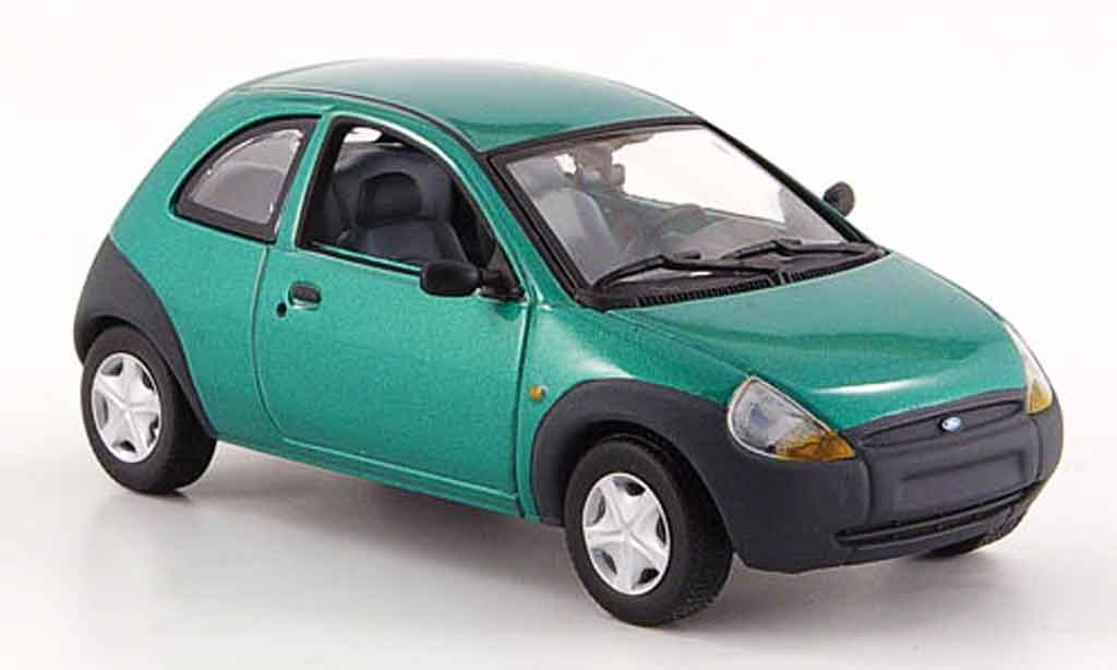 ford ka grun 1997 minichamps modellauto 1 43 kaufen verkauf modellauto online. Black Bedroom Furniture Sets. Home Design Ideas