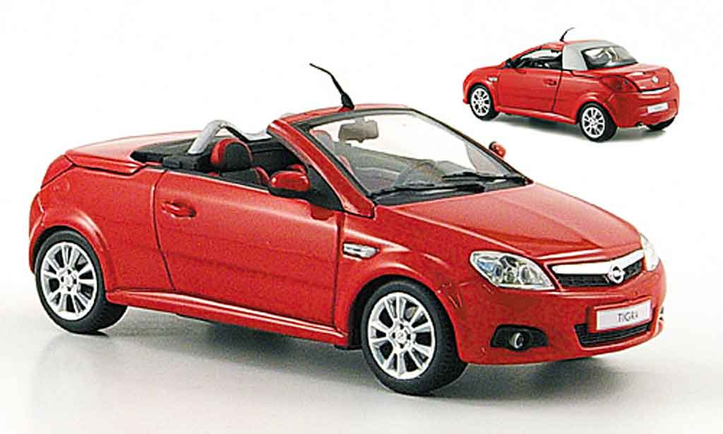 Opel Tigra 1/43 Minichamps twin top rouge 2004 miniature