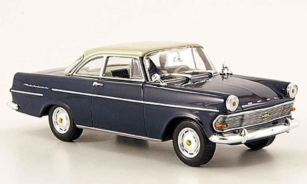 Opel Rekord 1/43 Minichamps p 2 coupe bleu grise 1960 miniature