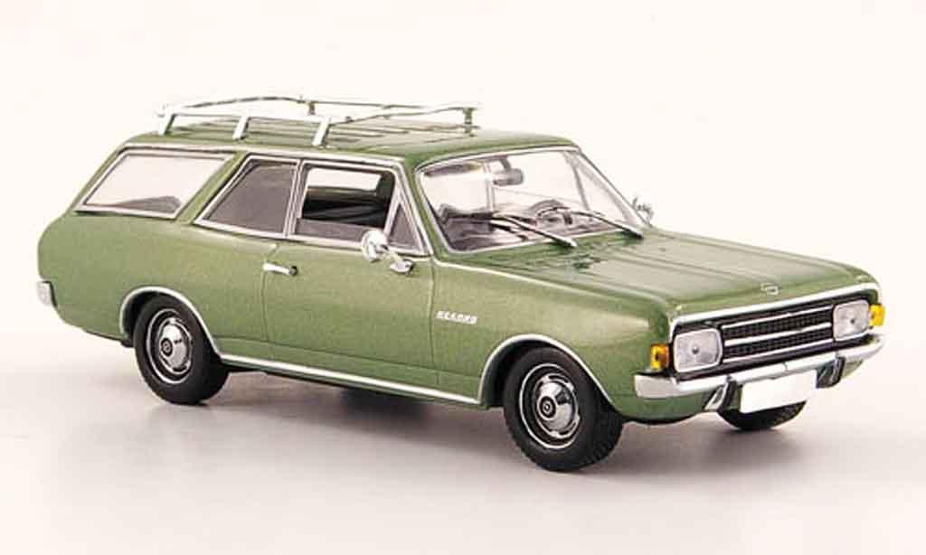 Opel Rekord 1/43 Minichamps c caravan verte 1966 miniature