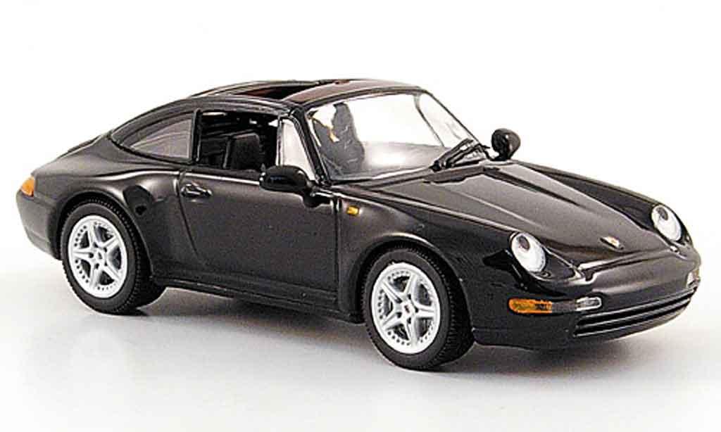 Porsche 993 Targa 1/43 Minichamps  noire 1995 miniature