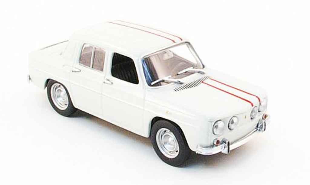 Renault 8 Gordini 1/43 Minichamps blanca avec rojaen streifen 1964 miniatura