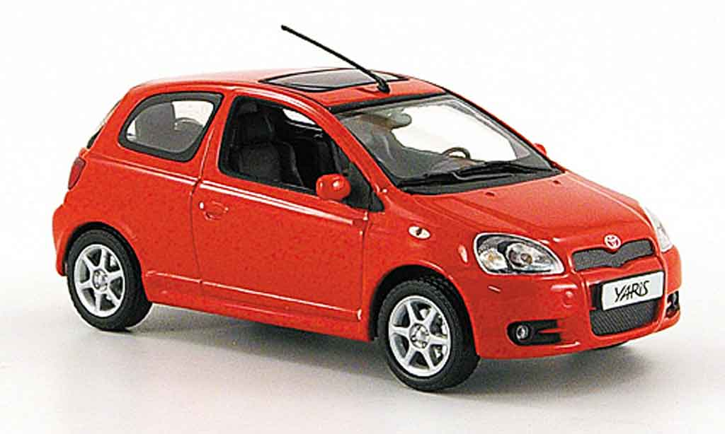 toyota yaris ts red 2001 minichamps diecast model car 1 43. Black Bedroom Furniture Sets. Home Design Ideas
