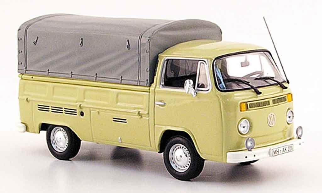 Volkswagen Combi 1/43 Minichamps t 2 pritsche beige 1972 miniature