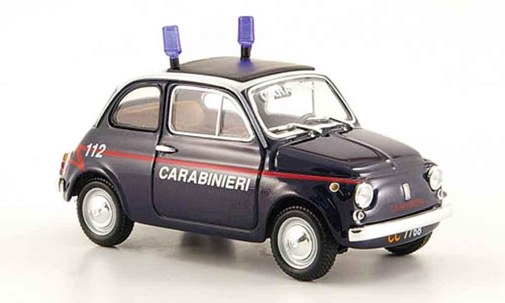 Fiat 500 1/43 Minichamps Carabinieri italienische police 1965 miniature