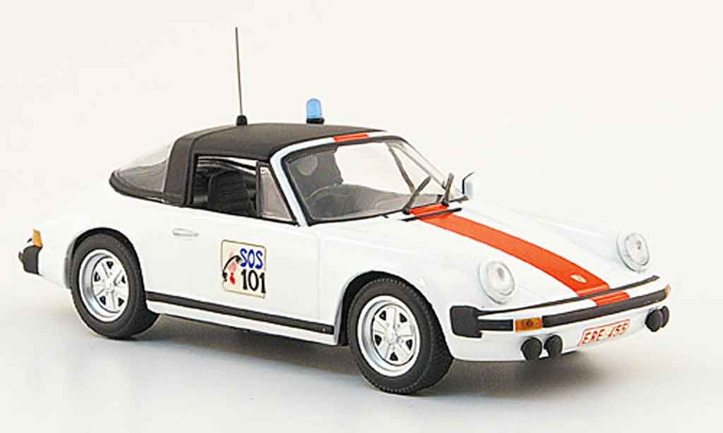 Porsche 930 Targa 1/43 Minichamps Belgische police 1977 miniature