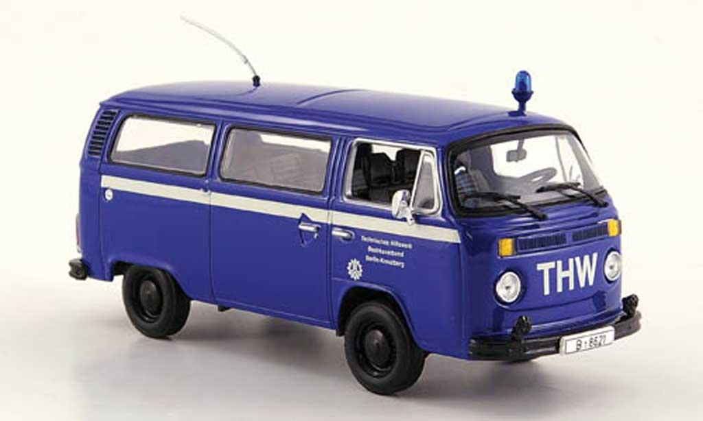 volkswagen t2 bus thw berlin kreuzberg 1979 minichamps modellauto 1 43 kaufen verkauf. Black Bedroom Furniture Sets. Home Design Ideas