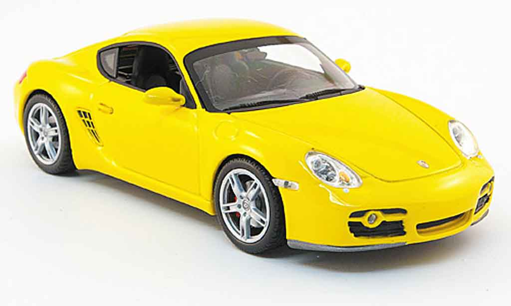 Porsche Cayman S 1/43 Minichamps (987) jaune Linea Giallo 2008 miniature