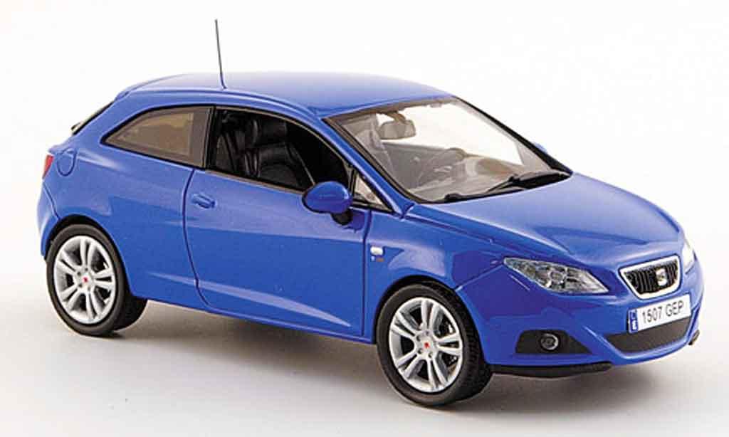 seat ibiza miniature sc bleu 3turer 2008 j collection 1 43 voiture. Black Bedroom Furniture Sets. Home Design Ideas
