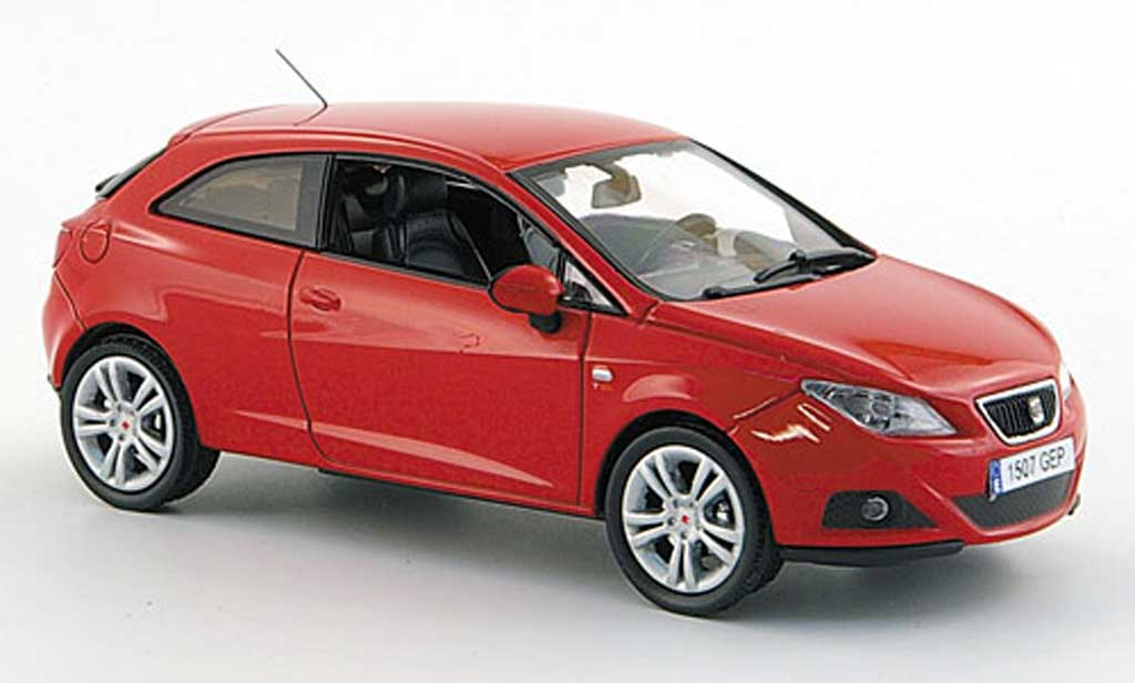 Seat Ibiza 1/43 J Collection SC rouge 3-portes 2008 miniature
