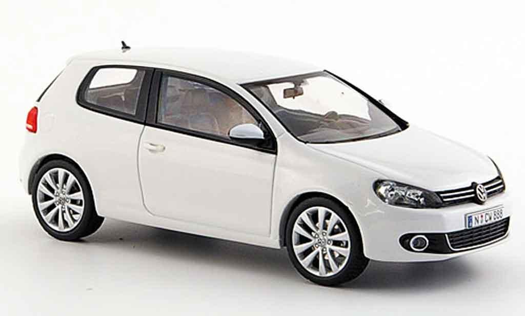 volkswagen golf vi miniature blanche 3 portes concept white schuco 1 43 voiture. Black Bedroom Furniture Sets. Home Design Ideas