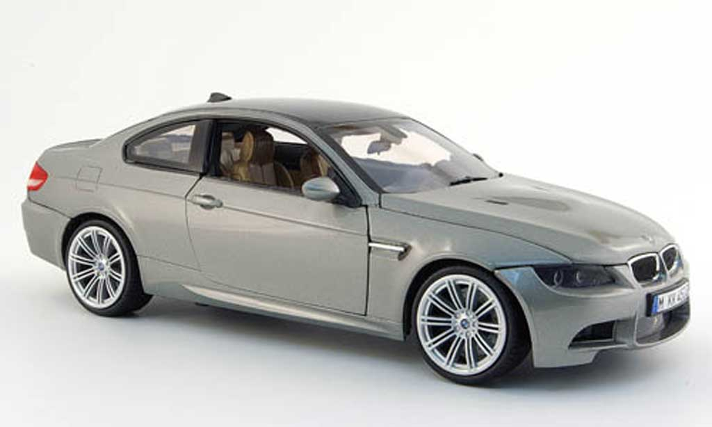 Bmw M3 E92 1/18 Mondo Motors coupe grise 2008 miniature