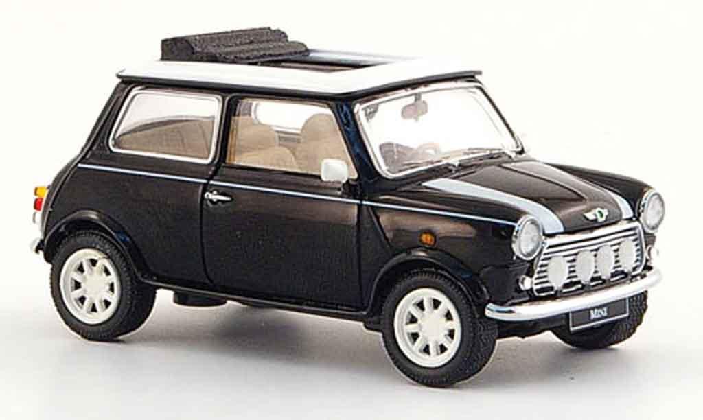 Austin Mini Cooper 1/43 Schuco black white 1990 diecast model cars