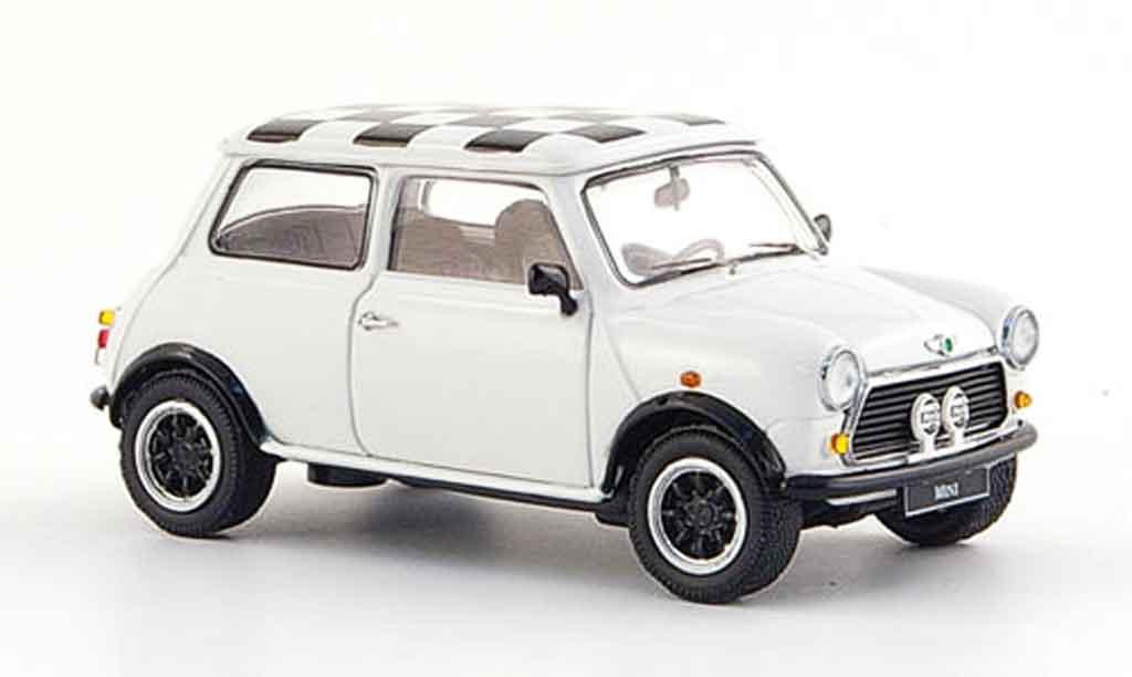 Austin Mini Cooper 1/43 Schuco blanche 1990 miniature