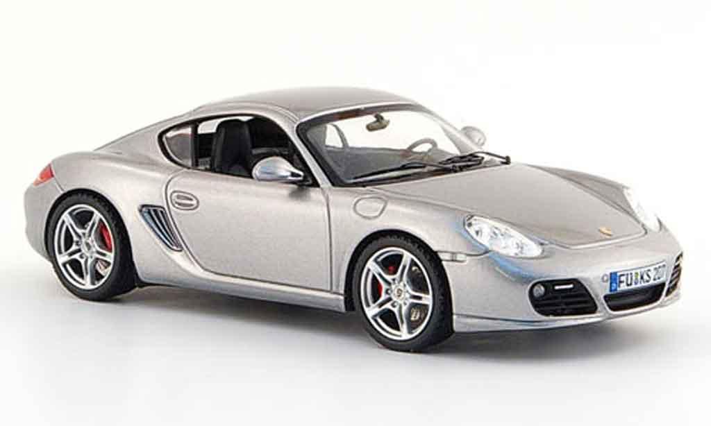 Porsche Cayman S 1/43 Schuco grise metallisee 2009 miniature