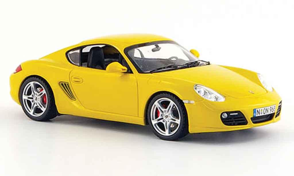 Porsche Cayman S 1/43 Schuco jaune 2008 miniature