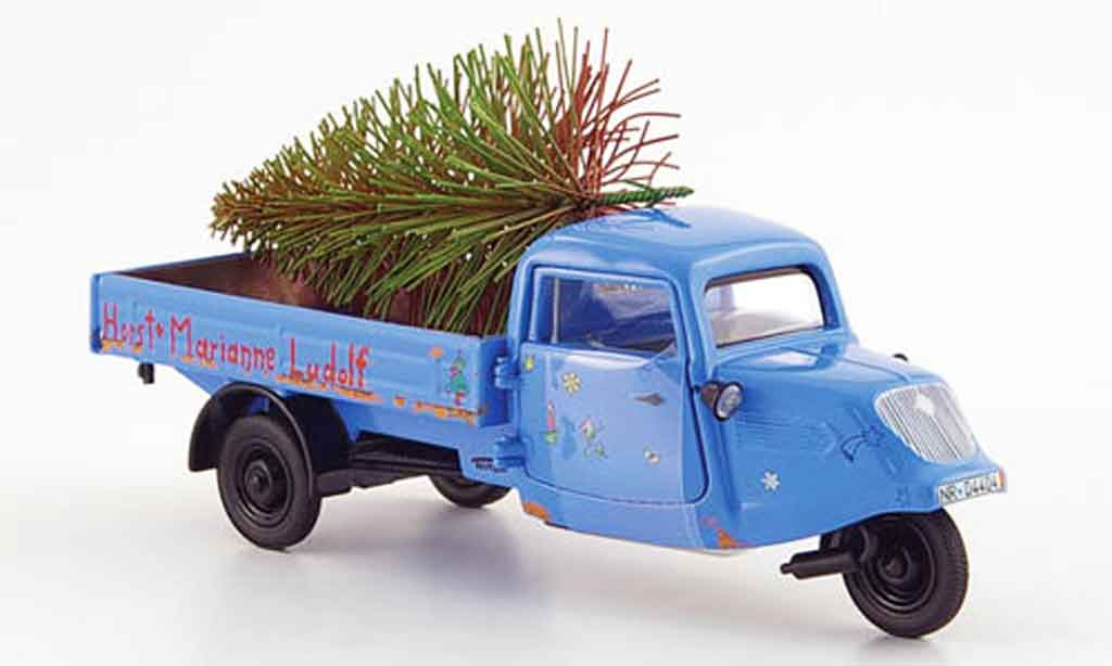Seat Tempo 1/43 Schuco handreirad bleu horst & marianne ludolf miniature