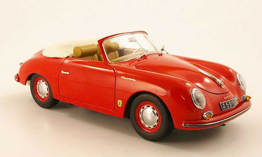 Porsche 356 1955 1/18 Schuco A Cabriolet red diecast model cars