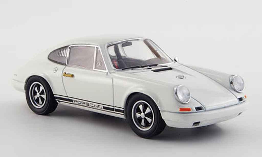Porsche 911 1/43 Ebbro R blanche 1967 miniature