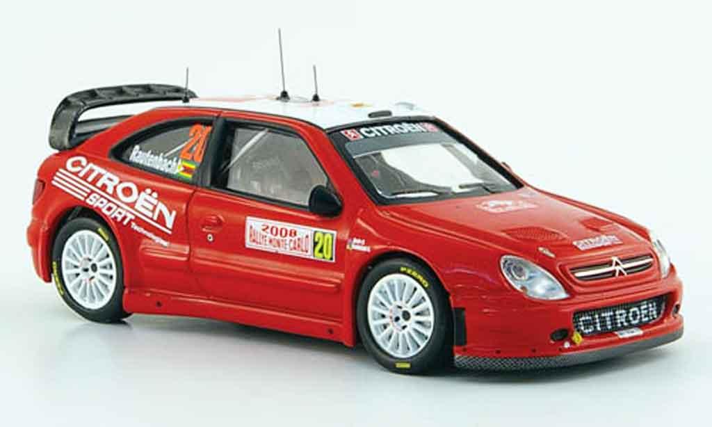 Citroen Xsara WRC 2008 1/43 IXO no.20 rautenbach senior rallye monte carlo miniature