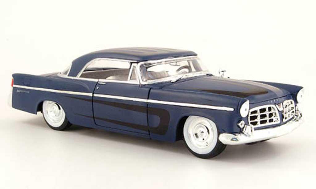 Chrysler 300B 1/18 Maisto bleu mat et decor noir 1956 miniature