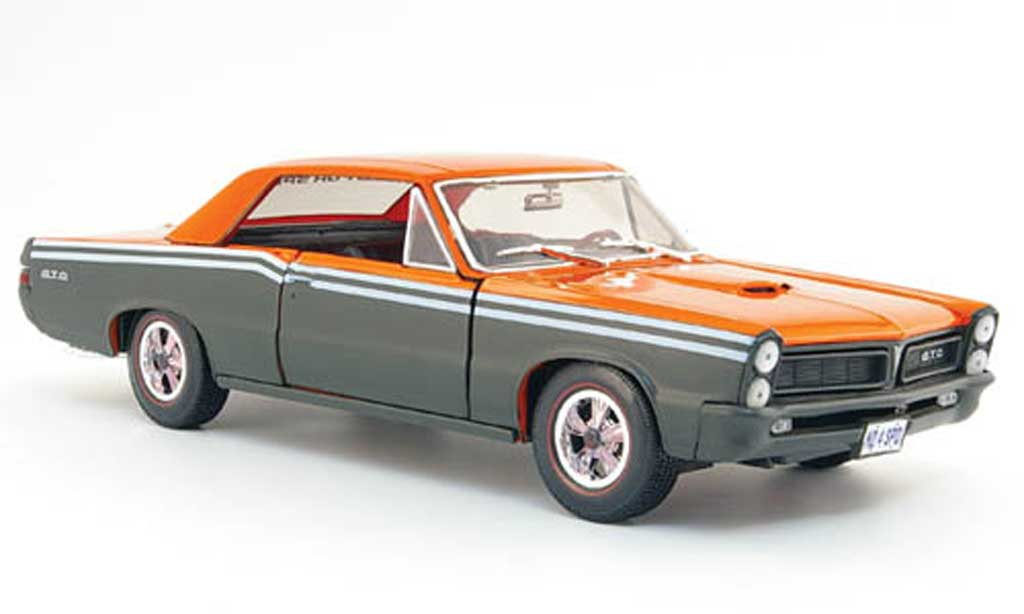 Pontiac GTO 1/18 Maisto gray orange need for speed 1965
