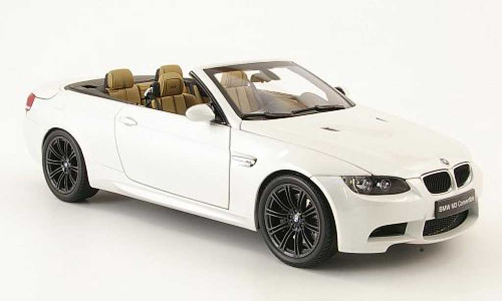Bmw M3 E93 1/18 Autoart cabriolet white diecast model cars
