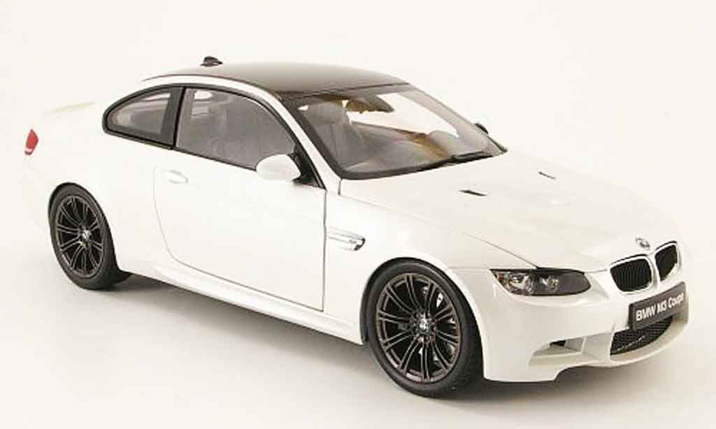 Bmw M3 E92 1/18 Kyosho coupe white diecast model cars