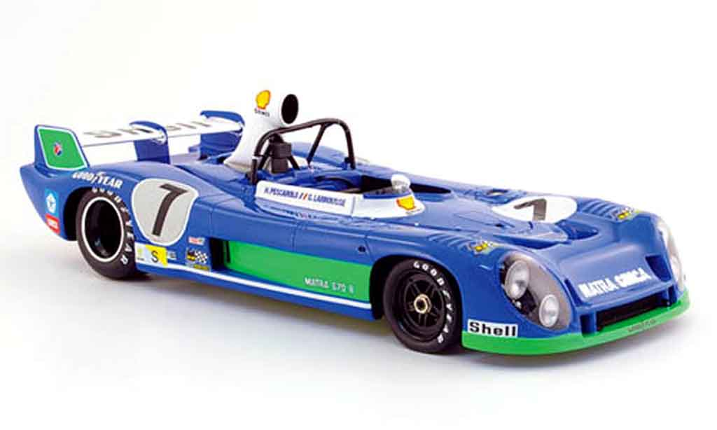 Simca Matra 1/18 Spark ms 670 b no.7 gitanes sieger le mans 1974 diecast model cars