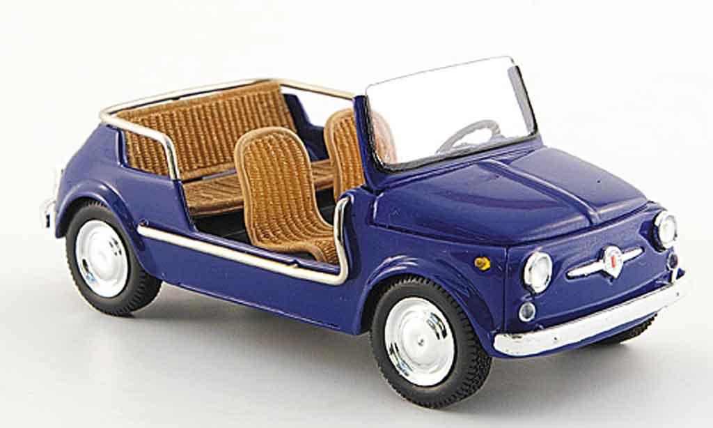 Fiat 500 1/43 Spark Jolly bleu diecast model cars