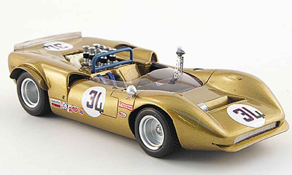 Lola T70 1/43 Spark No.34 G.Folmer Laguna Seca 1968 miniature