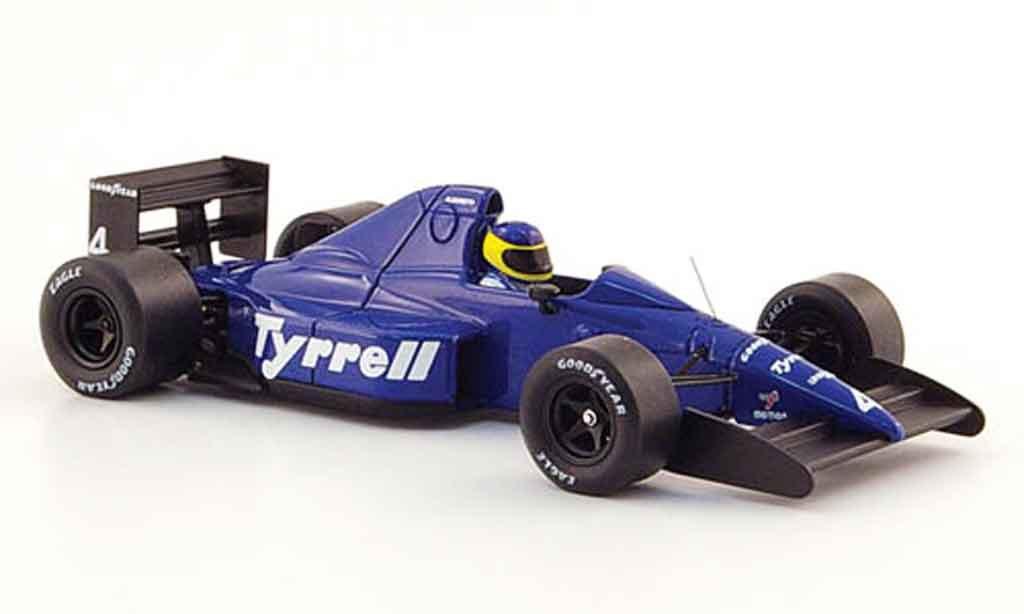 Tyrrell 018 1/43 Spark No.4 M.Alboreto GP Mexico 1989 miniature
