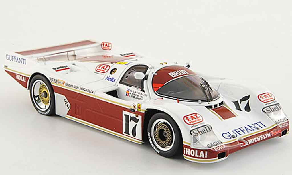 Porsche 962 1986 1/43 Spark No.17 Fortuna 24h Le Mans diecast model cars