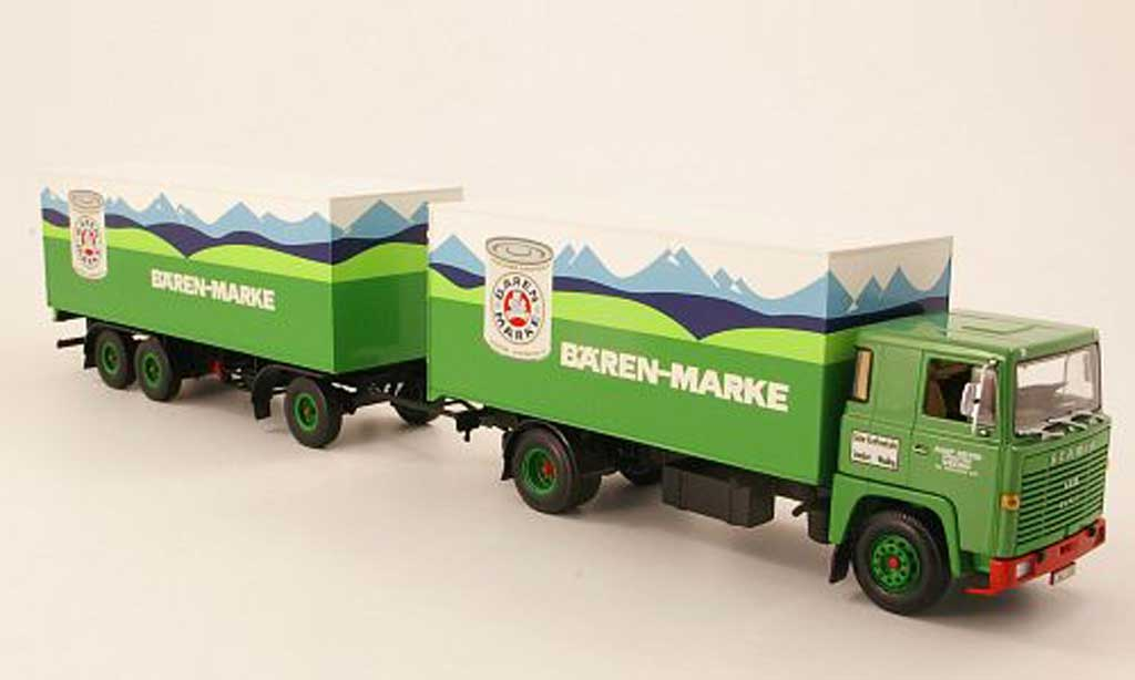 Scania Serie R 1/43 Minichamps LB 140 Kofferzug Barenmarke 1970 miniature
