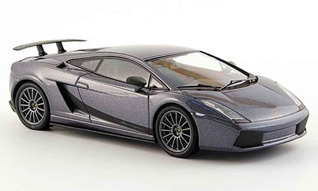 Lamborghini Gallardo Superleggera 1/43 Kyosho grey diecast model cars