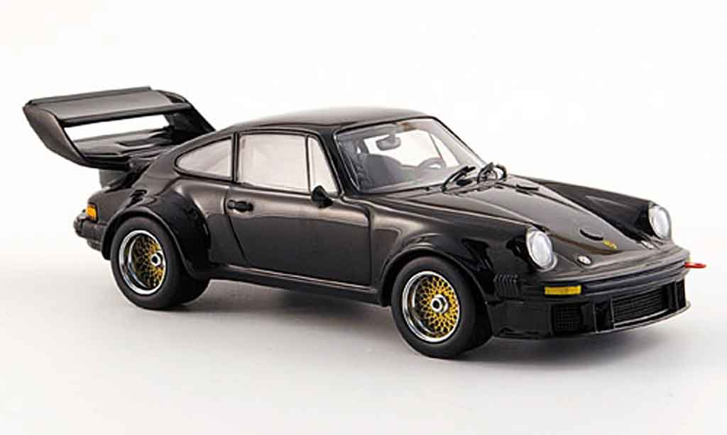 Porsche 934 Big Wing 1/43 Kyosho 5 black diecast model cars