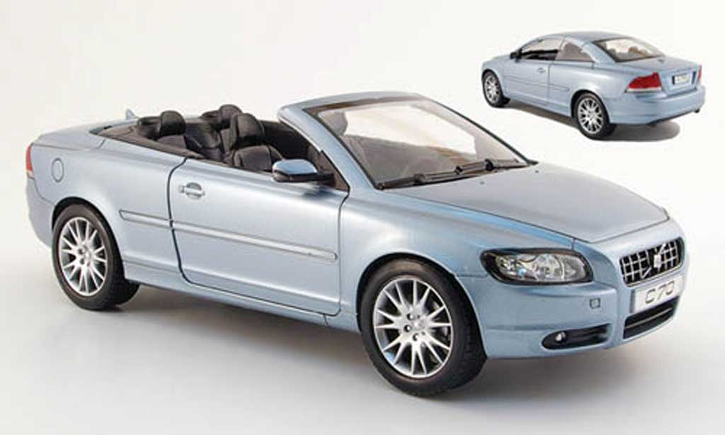 Volvo C70 convertible blue 2006 Powco. Volvo C70 convertible blue 2006 miniature 1/18