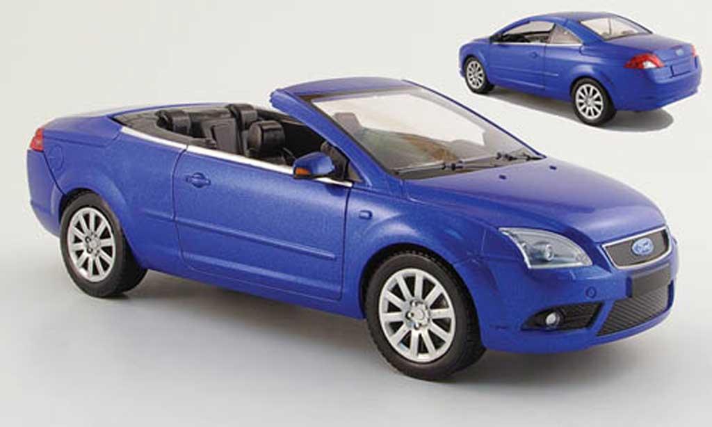 ford focus cc blau mit aufsteckdach 2007 powco modellauto 1 18 kaufen verkauf modellauto. Black Bedroom Furniture Sets. Home Design Ideas