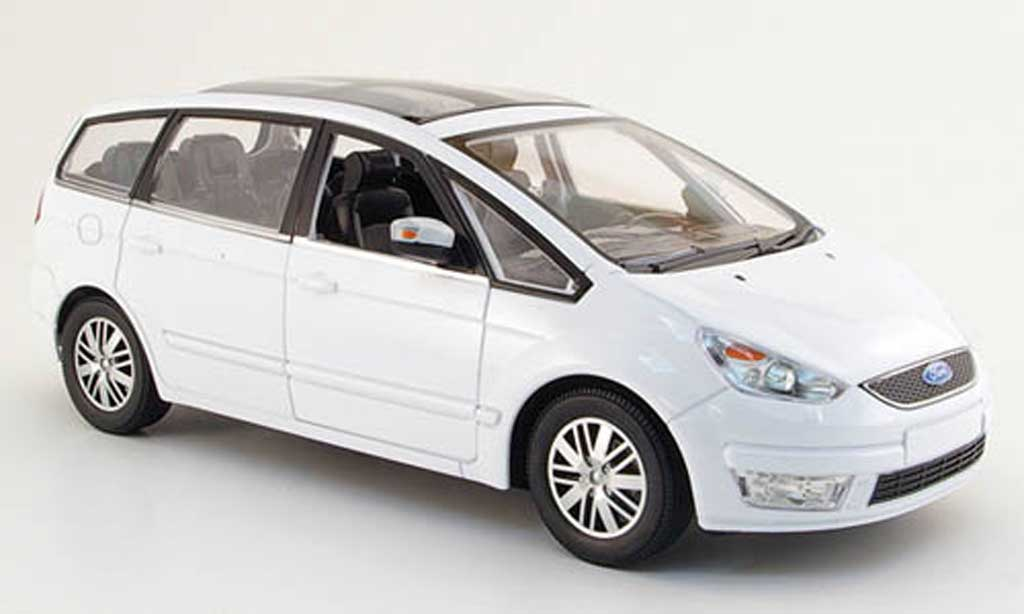 Ford Galaxy 1/18 Powco blanche 2007 miniature
