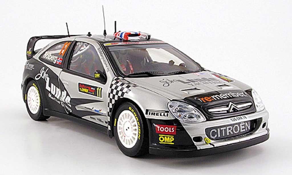 Citroen Xsara WRC 2009 1/18 Sun Star no.11 solberg/mills rallye chypre miniature