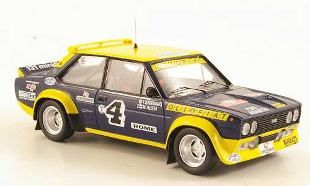 Fiat 131 Abarth 1/43 Trofeu No.4 OlioRally Monte Carlo 1977 miniature