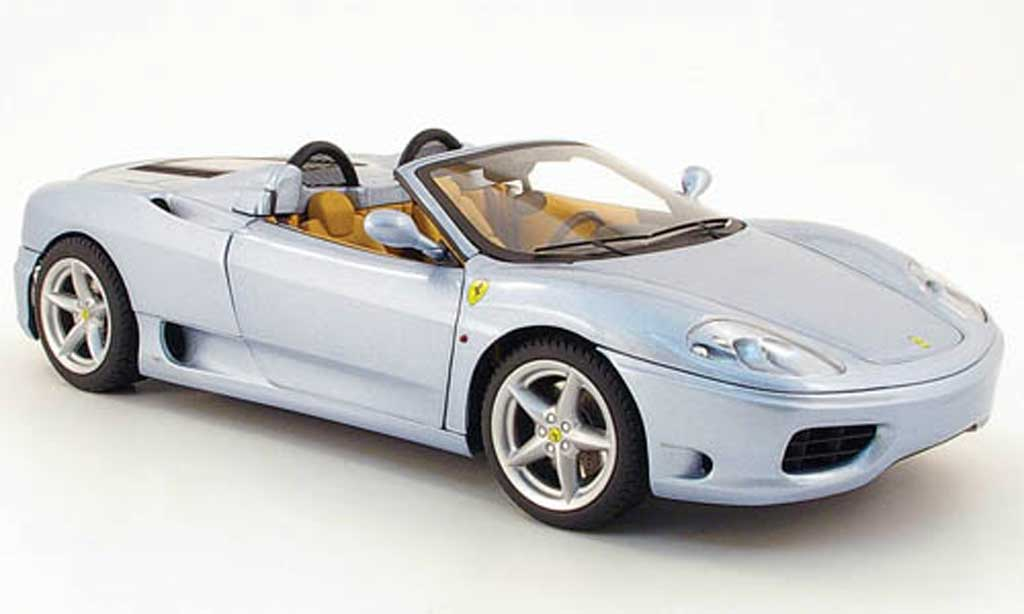 Ferrari 360 Modena Spider 1/18 Hot Wheels the italian job grisebleu miniature