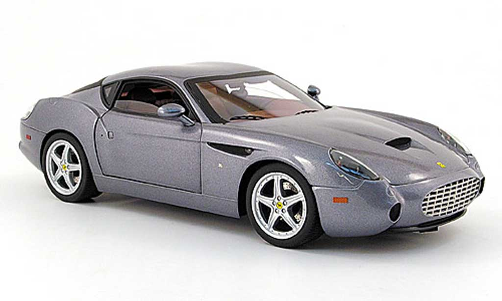 Ferrari 575 GTZ 1/18 Hot Wheels zagato grise miniature
