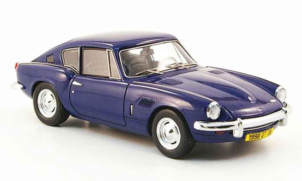 Triumph GT6 1/43 Spark MkII bleu 1968 diecast model cars