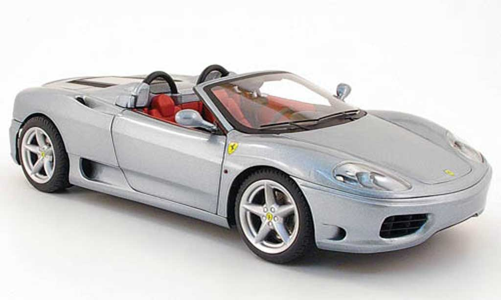 Ferrari 360 Modena Spider gray Hot Wheels. Ferrari 360 Modena Spider gray miniature 1/18