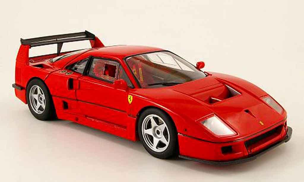 Ferrari F40 Test Car 1/18 Hot Wheels Elite competizione 1989 miniature